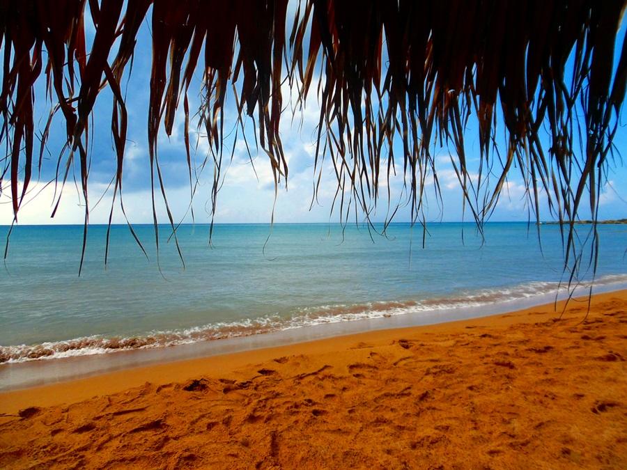 inimă albastră, plaje în Corfu