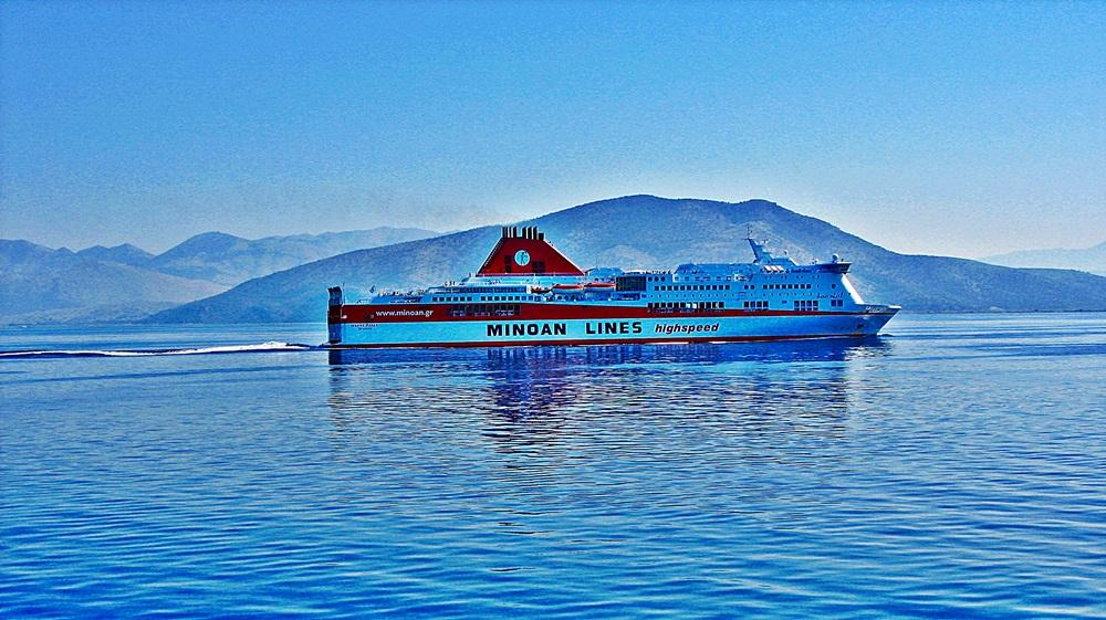 călătoria cu ferry-boat spre insulele grecești