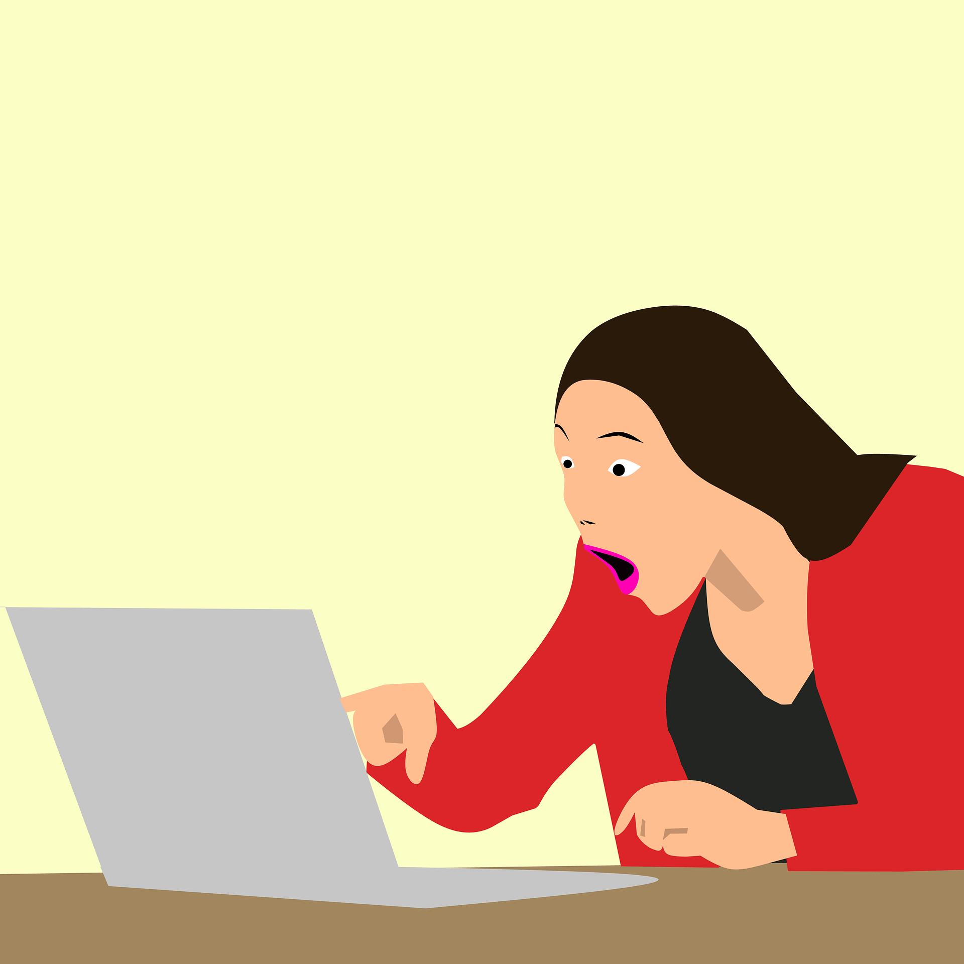 clienta cauta pareri despre magazinele on line