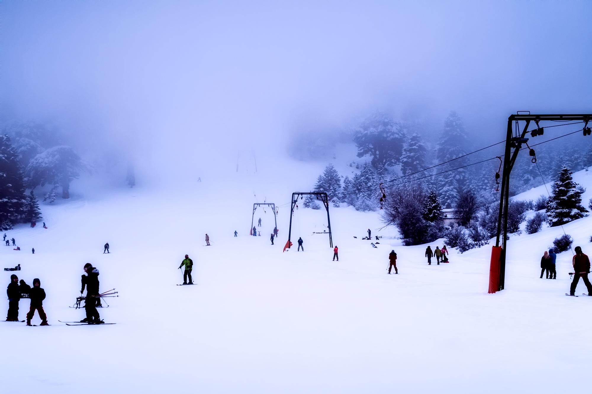 Partie de ski in Grecia