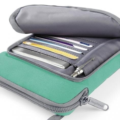 geantă portofel cu compartimente pentru acte, bani și telefon